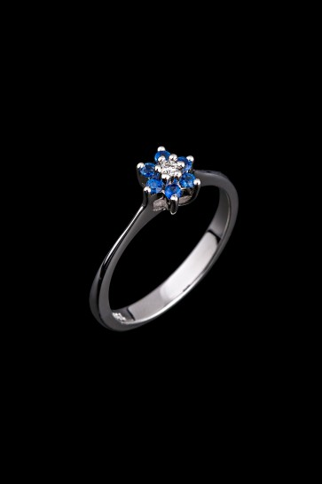 Δαχτυλίδι Κ18 Ροζέτα Sapphire