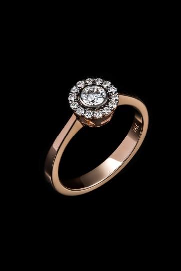 Δαχτυλίδι Κ18 Ροζέτα Brilliant