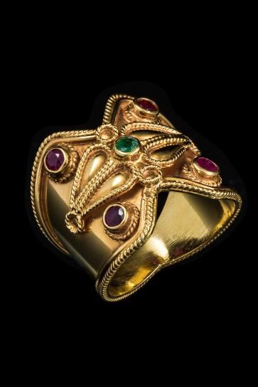 Δαχτυλίδι Κ18 Βυζαντινό