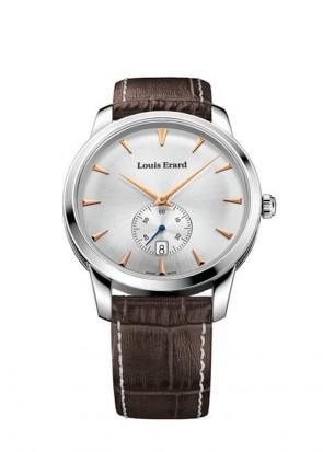LOUIS ERARD Heritage quartz silver dial