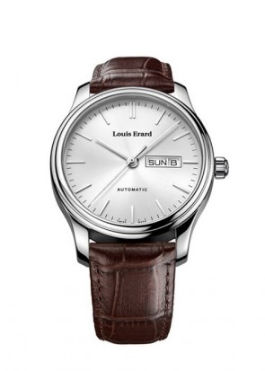 LOUIS ERARD Heritage silver dial daydate