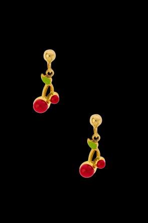 Σκουλαρίκια Κ14 Κερασάκια