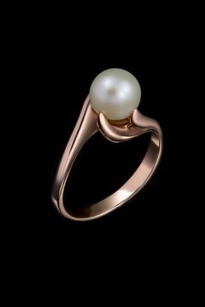 Δαχτυλίδι Κ14 Μαργαριτάρι