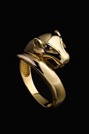 Δαχτυλίδι Κ14 πάνθηρας