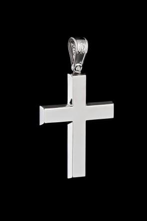 Σταυρός Κ14 λευκόχρυσος Λουστρέ