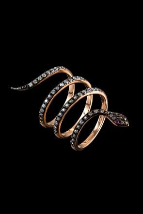 Δαχτυλίδι Κ14 ροζ χρυσός