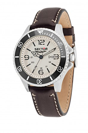 SECTOR 235 Brown Leather Strap