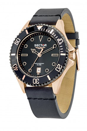 SECTOR 235 Pink Gold Black Dial