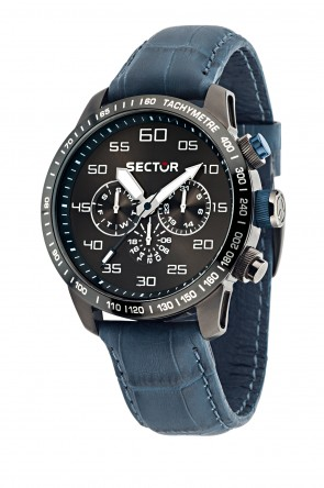 SECTOR 850 Blue leather strap Chronograph