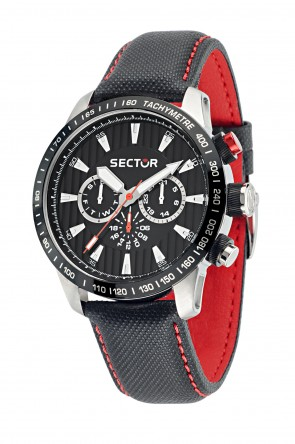 SECTOR 850 Black leather strap Chronograph