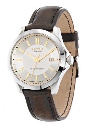 SECTOR CLASSIC Brown Leather Strap