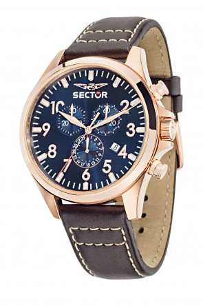 SECTOR 180 Pink Gold Blue Dial
