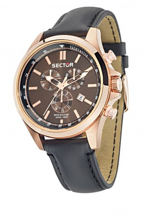 SECTOR 180 Pink Gold Brown Dial