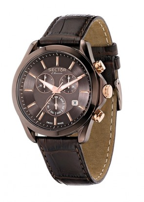 Sector Classic Chrono Brown Leather Strap