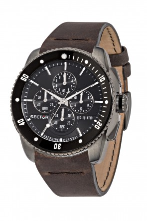 SECTOR 350 Black Dial Chronograph