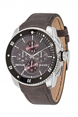 SECTOR 350 Brown Leather Strap