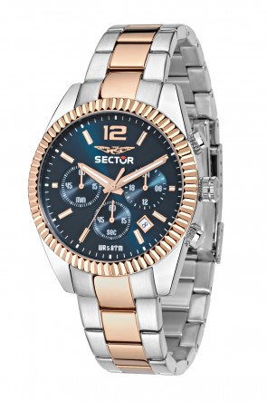 SECTOR 240 Pink Gold Blue Dial