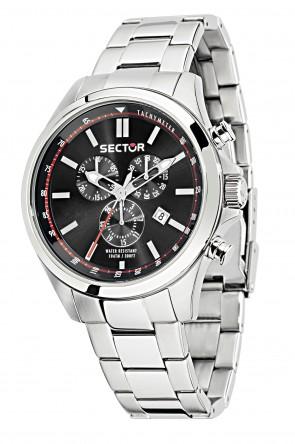 Sector 180 black dial chronograph