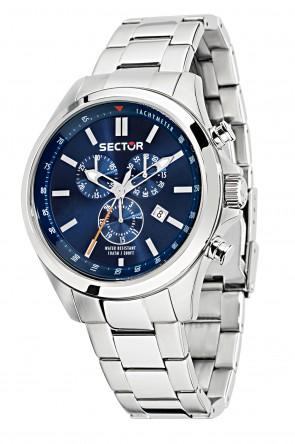 Sector 180 blue dial chronograph