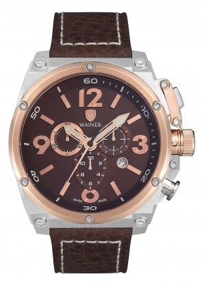 WAINER Zion Brown Dial Chronograph