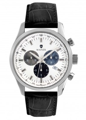 WAINER Wall Street White Dial Chronograph