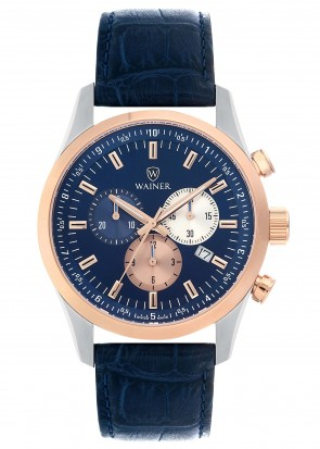 WAINER Wall Street Blue Dial Chronograph