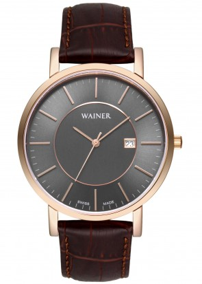 WAINER Bach Brown Leather Strap