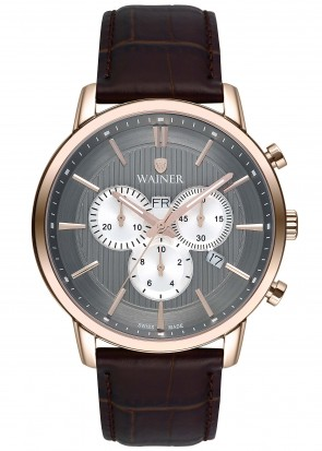 WAINER Wall Street Pink Gold Chronograph